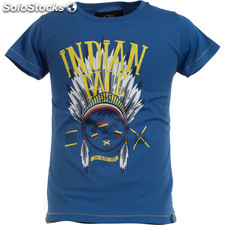 Camiseta mc junior indian brave royal blue - royal blue - the indian face -