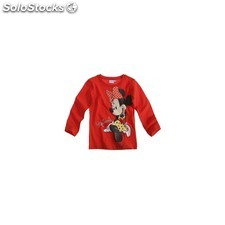 Camiseta minnie mouse manga larga talla 4 años roja