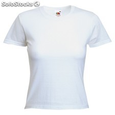 Camiseta mujer blanca valueweight : colores - blanco, tallas - l,camiseta mujer