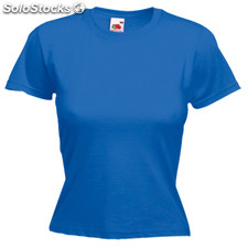 Camiseta mujer color valueweight azul