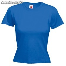 Camiseta mujer color valueweight : colores - azul, tallas - l,camiseta mujer