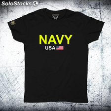 Camiseta navy usa Negro m