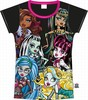 Camiseta negra monster high - Talla 8