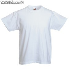 Camiseta niño blanca valueweight*