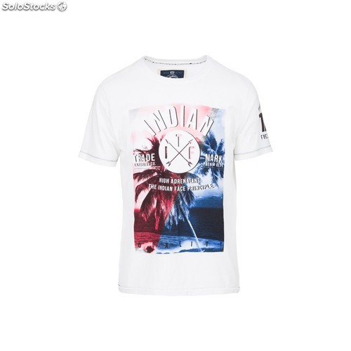 Camiseta palm tree quality - white