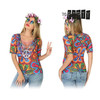 Camiseta para adultos Th3 Party 8232 Hippie