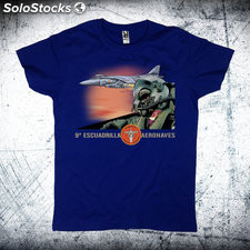 Camiseta piloto Harrier Azul Royal M
