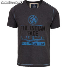 Camiseta size big wave - dark grey