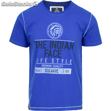 Camiseta size big wave - royal blue