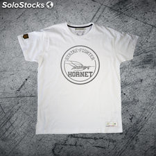 Camiseta strike-fighter hornet premium Blanco xxl