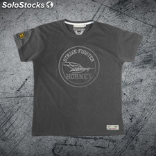 Camiseta strike-fighter hornet premium Gris vintage xl