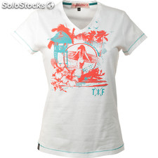 Camiseta surf girl optic white - optic white - the indian face - 8433856048759 -