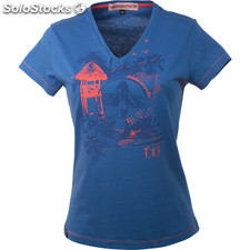 Camiseta surf girl royal blue - royal blue - the indian face - 8433856048834 -