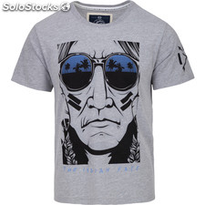 Camiseta the urban chief - light grey melange - the indian face - 8433856054743