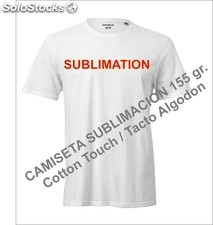 Camisetas de Sublimacion, Tacto Algodon - Cotton touch, Tacto suave