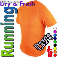 Camisetas running dry and fresh