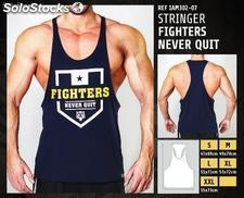 Camisetas sin Mangas - Fighters never quit