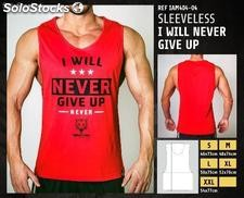 Camisetas sin Mangas - i will never give up