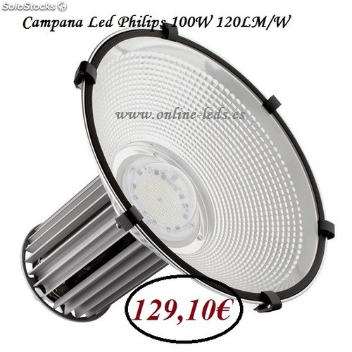 Campana Led Philips 100W 120lm/w