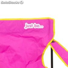 Camping Chair Dark Pink with Yellow Trim