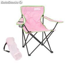 Camping Chair LIGHT Pink with Green trim