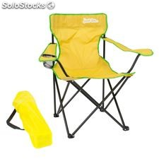 Camping Chair yellow with Green Trim