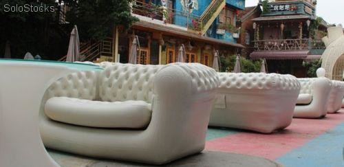 Canap 2 places gonflable pvc chesterfield - Canape chesterfield gonflable ...