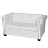 Canapé Chesterfield de 2 places Blanc