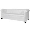 Canapé Chesterfield de 3 places Blanc