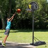 Canasta de baloncesto movil con altura ajustable