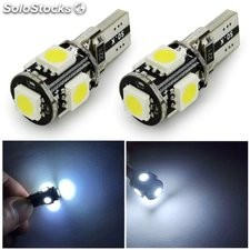 Canbus T10 5smd 5050 Luz LED canbus W5W led canbus 194 t10 5led SMD Error libre