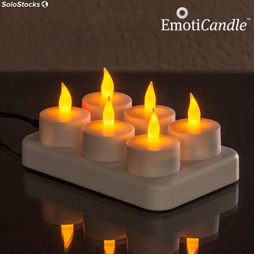 candela candela led candele candele led illuminazione led candele led ricaricabili emoticandle. Black Bedroom Furniture Sets. Home Design Ideas
