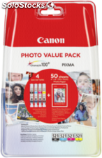 Canon cli-521 Photo Value Pack c/m/y/bk pp-201 10x15cm 50 hojas