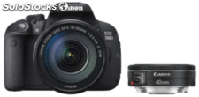 Canon eos 700D Kit + ef-s 18-135 is stm + 40 stm