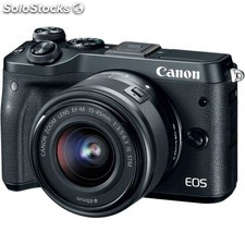 Canon - eos M6 + ef-m 15-45mm 3.5-6.3 is stm milc 24.2MP cmos 6000 x 4000Pixeles