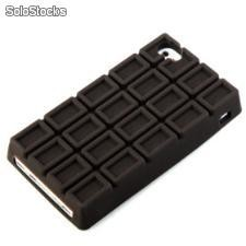 capa de silicone barra de chocolate para o iPhone 4 /4s