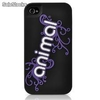 Capa Silicone Contour Design Animal iPhone 4 e 4s - Preto e Roxo