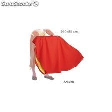 Capote torero adulto color rojo