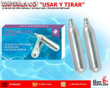 "Capsulas CO2 ""usar y tirar"" - we sport"