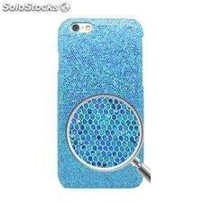 Carcasa iphone 6 brillantina celeste