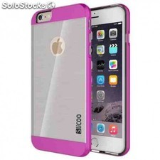 Carcasa iphone 6 slicoo rosa - transparente
