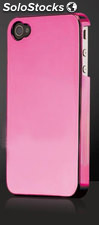 Carcasa metalic para Iphone 4, 4s, color rosa