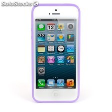 Carcasa Mooster iPhone 5 lila transparente