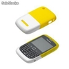 Carcasa Original BlackBerry 9300 8520 - Blanco y Amarillo