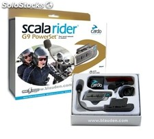 Cardo Scala Rider G9 Powerset, pareja intercom Bluetooth para moto