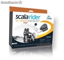 Cardo Scala Rider Q2 Multiset PRO Corded, kit intercom Bluetooth moto para
