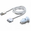 Cargador de coche 2xusb 5v + cable usb apple conceptronic