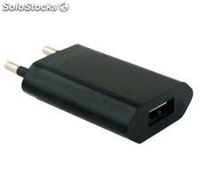 Cargador rapido usb 1A para Apple Iphone 4, 3, 3G, 3Gs, negro
