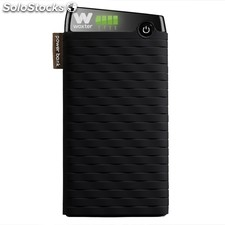Cargador usb power bank woxter 105000SR negro