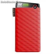 Cargador usb power bank woxter 105000SR rojo